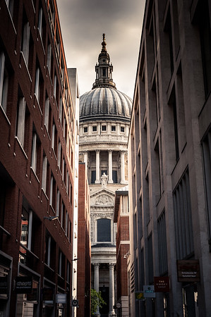 View of St. Paul's Cathedral from Queens Head Passage