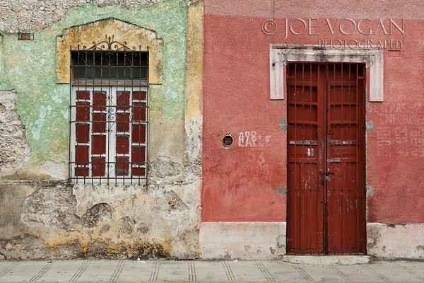 Painted Wall, Merida, Yucatan, Mexico