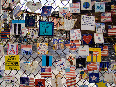 Sept 11 memorial tiles by schoolchildren