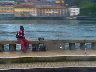 Fisherman on the river Douro