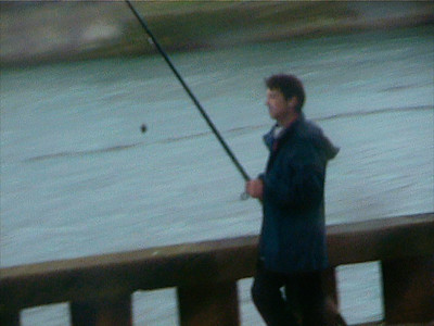 Another fisherman seen from the tram