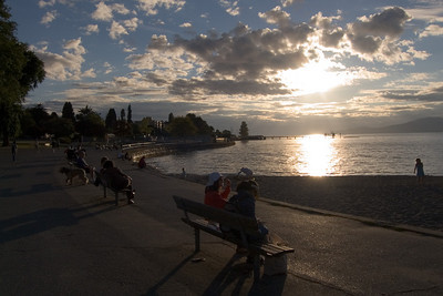 Late summer evening at Kitsilano