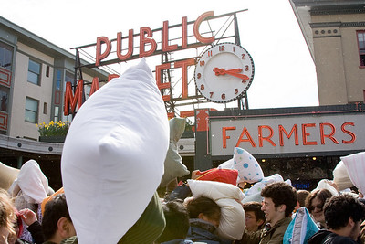 Pike Place Market Pillow Fight