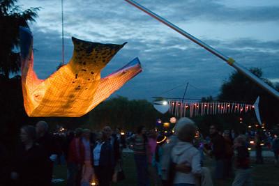 Lanterns cruising overhead
