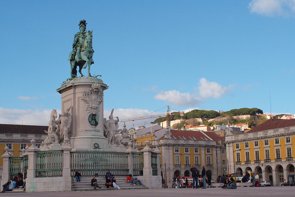 King Jose I before one of Lisbon's seven hills.