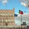 Flags: EU, Portugal and Lisbon