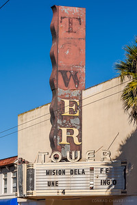 2006: Marquee of the Tower Theater, which opened as the Majestic Theater in 1912.