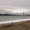 Golden Gate Bridge from China Beach.
