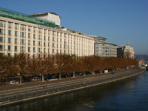 Walk by the river Rhône