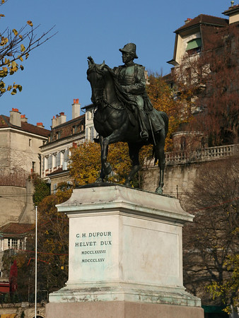 Statue of General DuFour at Place Neuve
