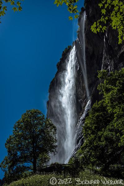 Solar Powered Waterfall