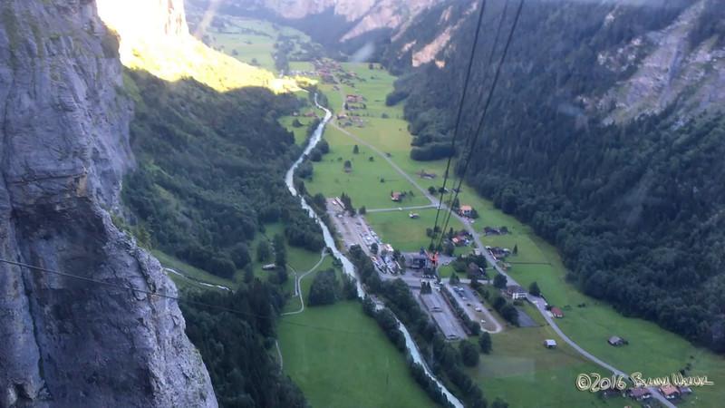 Descent to Stechelberg