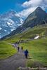 Heading to Kleine Scheidegg
