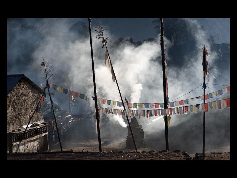 Tibetan village, Manaslu Himal