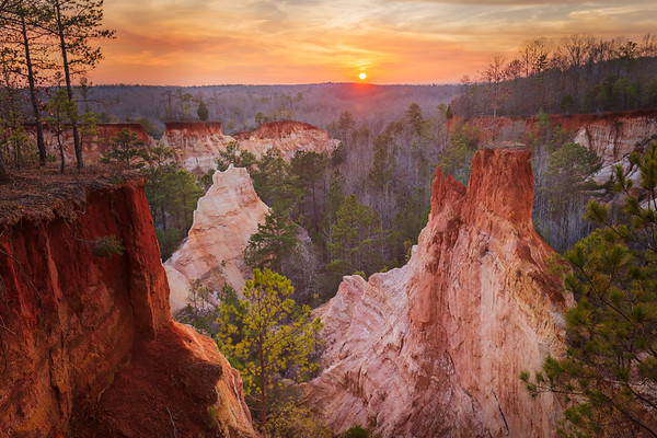 Providence Canyon Sunset
