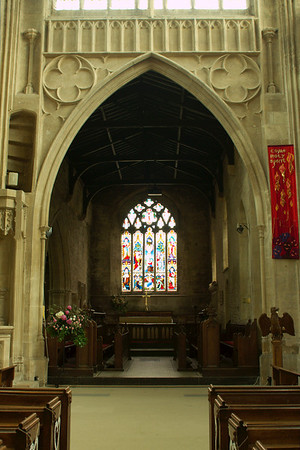 Inside view of Chipping Norton's church