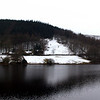 Derwent reservoir in winter time panorama