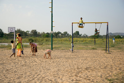 Being out in the country, Udayan has room for athletic fields and play areas.