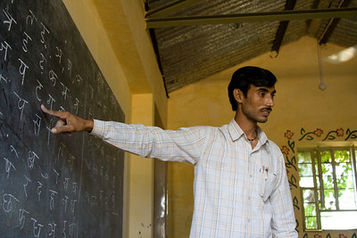 Teaching the Hindi alphabet