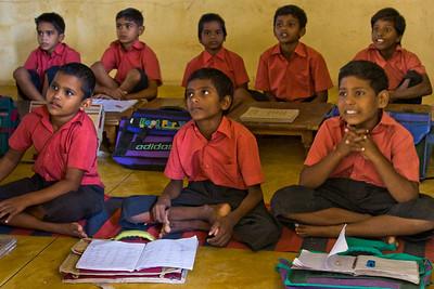 Learning the Hindi alphabet