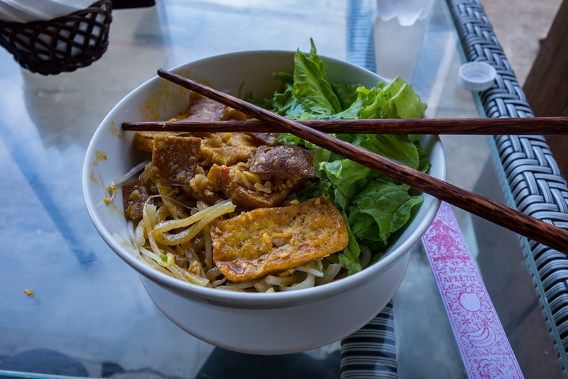 Cao Lao (yellow noodles) with Tofu, Hoi An.