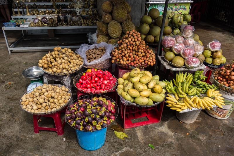 Fruit stall, Hue.