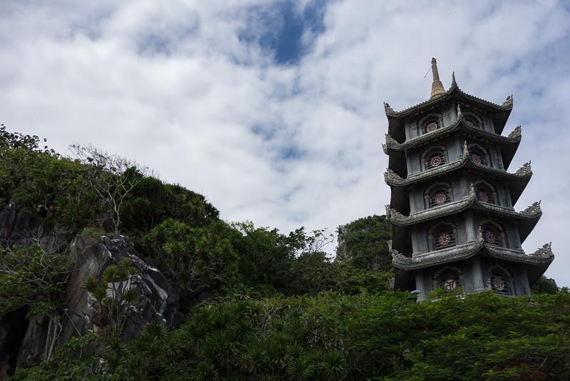 Marble Mountain pagoda.