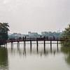Bridge over the Hoàn Kiếm Lake to Ngoc Son Temple - Hanoi