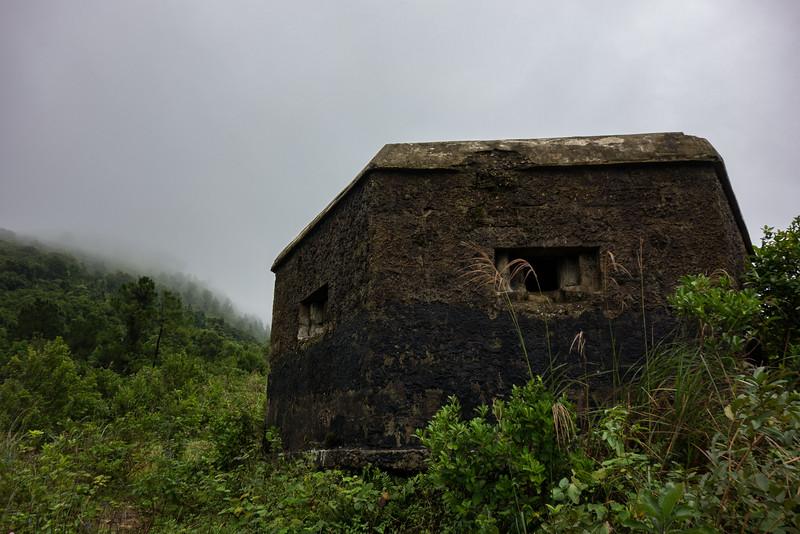 Old American bunker at Hai Van (Sea Cloud) Pass.
