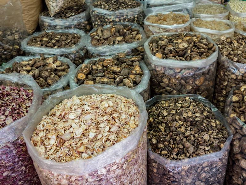 Dried Mushrooms, Ben Than Market, Ho Chi Minh City.
