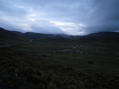 it was getting dark, drizzly and very very cold