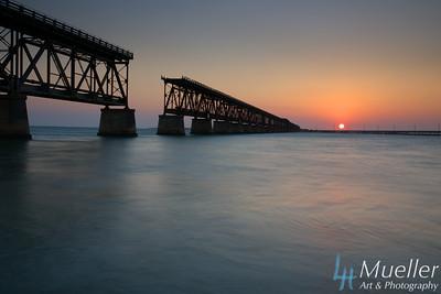 Sunset Bahia Honda Railroad Bridge