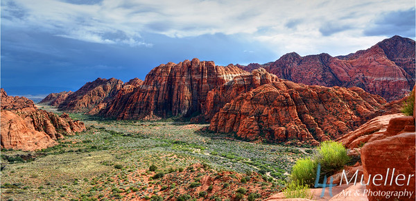 Storm Brewing over Ivins- Snow Canyon State Park