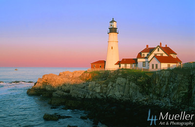 Portland Head Lighthouse Dusk