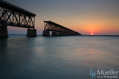 Sunset Bahia Honda Railroad Bridge