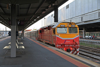 V/Line N468, Melbourne Southern Cross, 8202 05.15 ex South Geelong - 19/11/13.