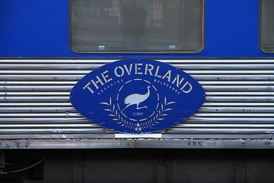Plaque on one of the carriages forming 'The Overland' - 19/11/13.