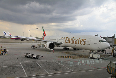 Emirates B777-300ER A6-EBK, EK408 03.00 Dubai-Melbourne, during the stopover at Kuala Lumpur - 18/11/13.