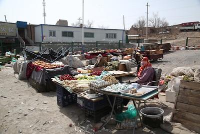 Sandaoling market - fruit, veg, eggs, rustic round things, you name it - 21/03/17.
