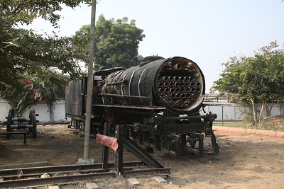 UID Metre gauge steam loco, partly dismantled, Rewari Railway Heritage Museum - 07/12/18.