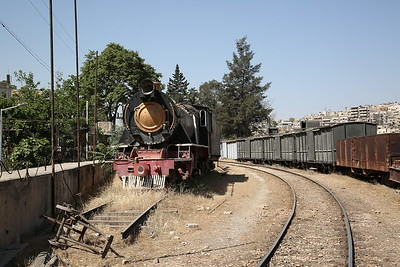 JHR 2-8-2 No.21 (RS&H 7431/1951) stored OOU, Amman station - 10/05/17.