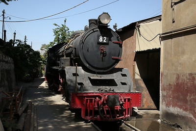 JHR 4-6-2 'Pacific' No.82 (Nippon Sharyo, Japan 1610/1958), Stored OOU, Amman shed - 10/05/17.