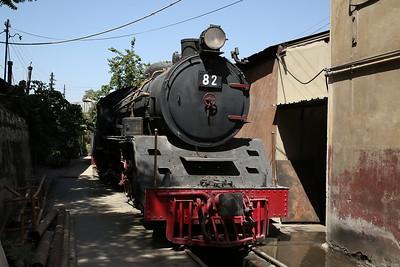 JHR 4-6-2 'Pacific' No.82 (Nippon Sharyo, Japan 1610/1958), Stored OOU, Amman shed - 10/05/17.
