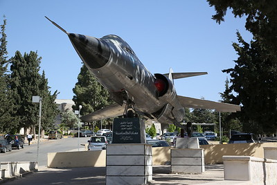 ex-Royal Jordanian Air Force Lockheed F-104A Starfighter, 913A, plinthed at the Entrance of the Faculty of Engineering and Technology - University of Jordan, Amman - 10/05/17.