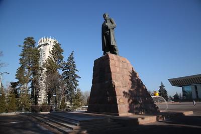Abai Qunanbaiuli (Kazakh poet, composer and philosopher) statue, Almaty - 10/01/18