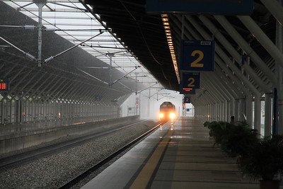 KTM 29119 approaches Tanjung malim on a Northbound freight - 28/11/10