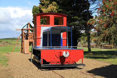 GVR TR 30 (Ex-NZR) in use as a playground object next to Glenbrook station  - 10/11/2011.