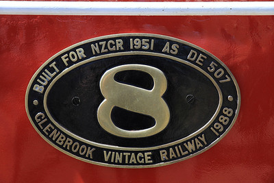 Number plate on GVR 8 (DE507)  - 10/11/2011.