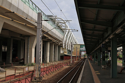 New station on a new high level alignment an Yuanlin - quite a few of these high level realignments are being built in various towns - 11/05/14