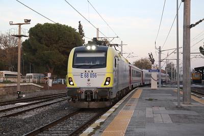 TCDD E68 056 arr Manisa, 32012 14.00 Balikesir-Izmir Basmane 'Ege Ekspresi' ('Aegean Express') - 16/11/19